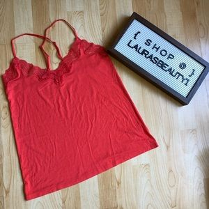 Reddish Orange Gap Body Camisole